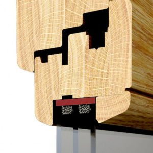 Przekrój profilu okna drewnianego Softline
