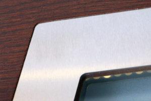 Drzwi wejściowe - detal INOX